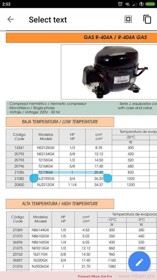 mbsm-dot-pro-mbsmpro--compresseur-frigorifique-embraco-aspera-t2178gk--1hp-pices-frigo-404a--220240-v-50-hz