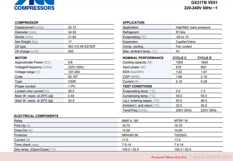 mbsm-dot-pro-mbsmpro--cubigel-compressor-gx21tb-220240-volts--58-hp--r134a