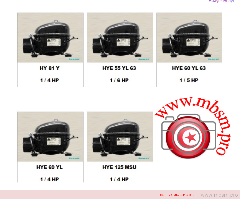 mbsm-dot-pro-mbsmpro--hye69yl-compressor-lbp--china-r134a-huayi-compressor-co-ltd-69-yl-14-hp-168kcal--220v