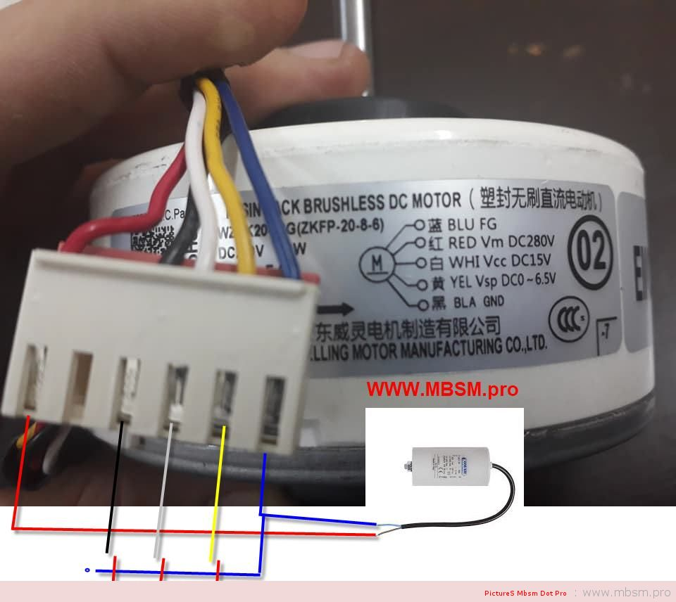 mbsm-dot-pro-resin-pack-brushless-dc-motor--gangdomg-welling-motor-manufacturing-coltd-dc280v-20w--010a-ecl-8p-1300rmin