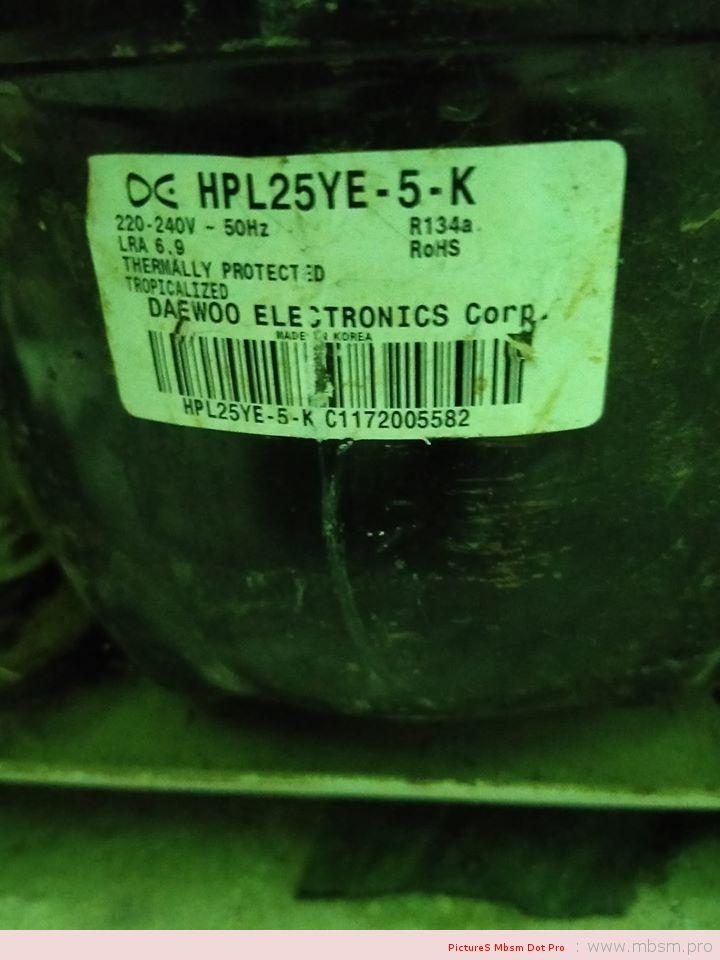 hpl25ye5k--daewoo-compressor-for-refrigerator-14-hp--220240-v--r134a-mbsm-dot-pro