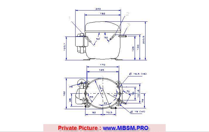 danfoss-refrigeration-r134agl90tg-220240v-5060hz-r134a-hbp-csircompressor-haute-pression-avec-condensateur-mbsm-dot-pro