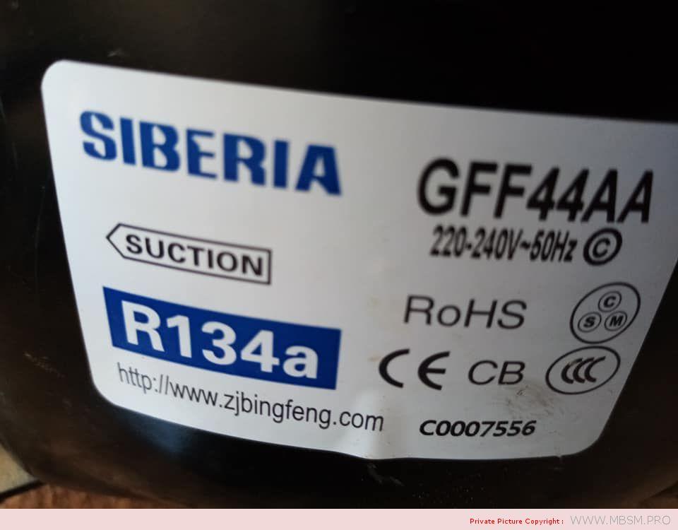 refrigerator-compressor-lbp-16hp--gff44aa-r134a--220240v50hz--rsir-130w--065a-cop-131-oil-charge-200ml-compresseurs-hermtiques-siberia-mbsm-dot-pro
