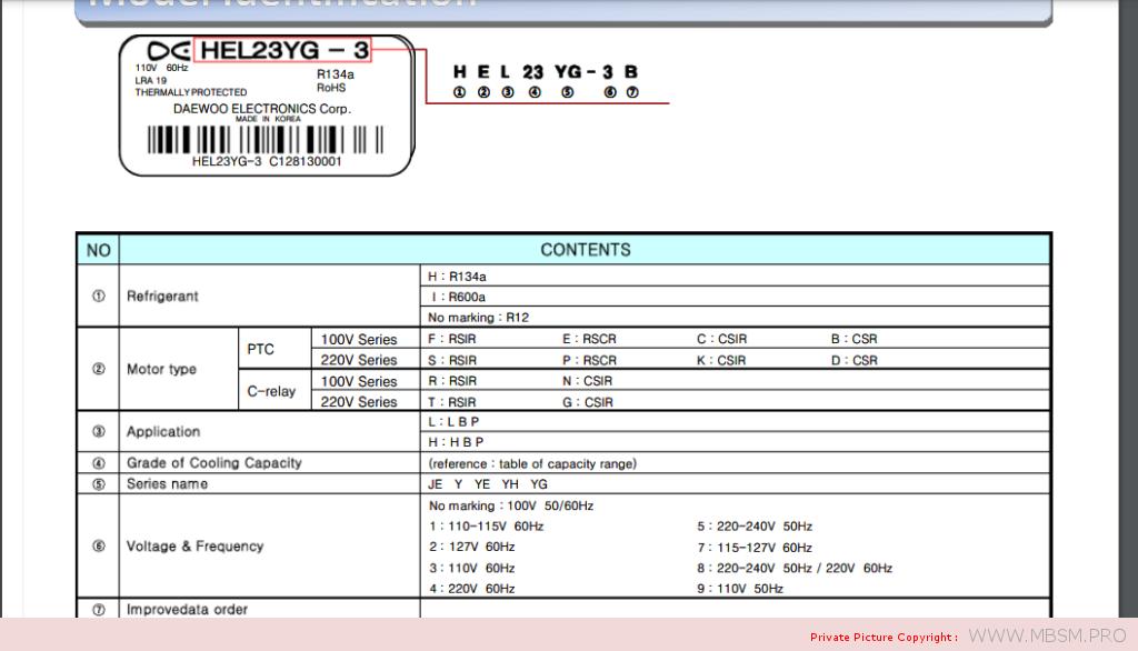 compressor-daewoo-hfl27ye5k-134a-rsir-lbp-13hp-ye-srie-220240v-50hz-287-w-mbsm-dot-pro