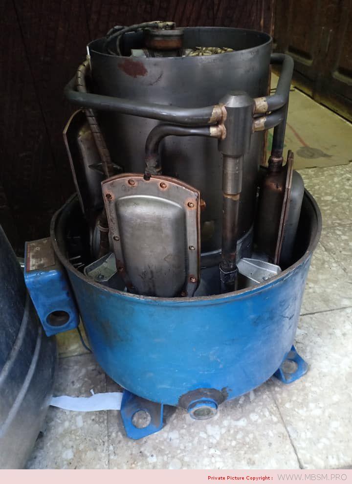 danfoss-compressor-5-hp-r22-dmontage-ouverture-destruction-mbsm-dot-pro