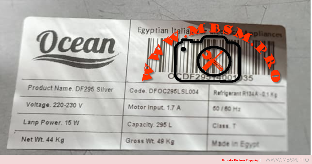 compressor-frigo-moteur-zmc-14-hp-lbp-rsir--rscr-gm-80-af-gm80af--r134-198-kcal-frigo-ocean-100cm60cm--ocean-made-in-egipt-capacity-295-l-charge-100g-mbsm-dot-pro
