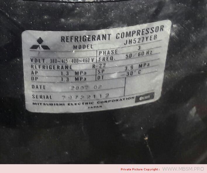 mitsubishi-refrigeration-compressor--for-chiller-jh527yeb-10hp-380--420-v-50-hz-460-v-60-hz-297-kw-74-kg--r22-mbsm-dot-pro
