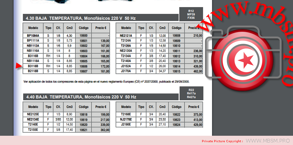 compressor-aspera-b3118b--14-hp--240v50hz-frigidaire-2-portes-philips-180w-class-t-422l-460l-total-compressor-b3118b-220g--r134a-mbsm-dot-pro