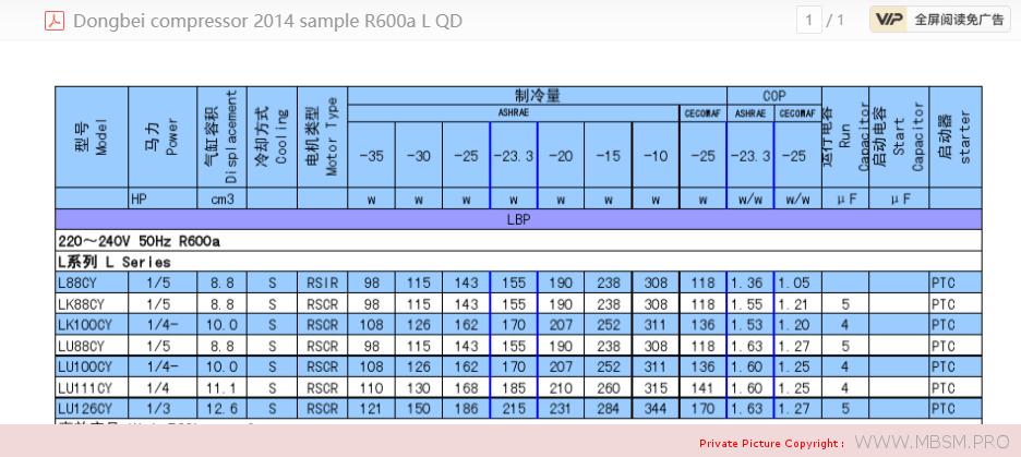 donper-hermetic-compressor--r600a-lj126cy-13-hp-r600a-mbsm-dot-pro