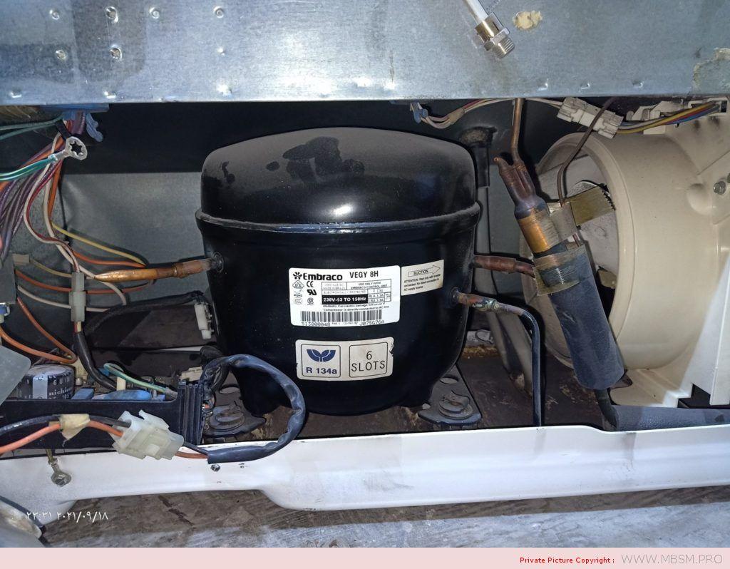 Embraco, VEGY 8H, Inverter Compressor, R134A, Refrigerator General Electric,110, 1/4 HP,Variable Speed Compressor